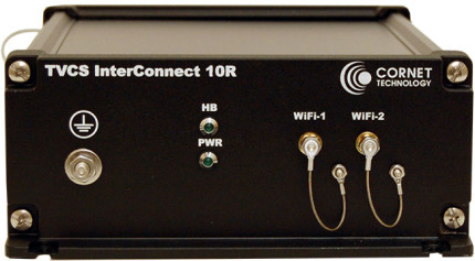 TVCS InterConnect 10R front view- military radio communication/conferencing switch and VoIP radio gateway